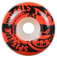 Spitfire Shredded - White/Red - 54mm 99a - Skateboard Wheels (Set of 4)