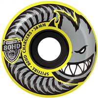Spitfire 80HD Chargers Conical - Yellow - 56mm 80a - Skateboard Wheels (Set of 4)