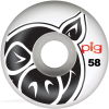 Pig Head Natural - White - 53mm - Skateboard Wheels (Set of 4)