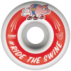 Pig #Ride - White - 51mm 101a - Skateboard Wheels (Set of 4)