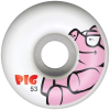 Pig Pig - White - 53mm - Skateboard Wheels (Set of 4)