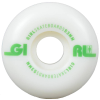 Girl Track - White - 53mm - Skateboard Wheels (Set of 4)