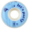 Girl Lets Party - Blue/White - 51mm - Skateboard Wheels (Set of 4)