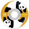 Enjoi Panda Standard - White/Orange - 55mm - Skateboard Wheels (Set of 4)