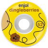Enjoi Dingleberries - Yellow/White - 52mm - Skateboard Wheels (Set of 4)