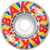 Baker Swipe - Red/Yellow/Blue - 51mm - Skateboard Wheels (Set of 4)