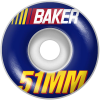 Baker Pit Stop - Blue - 51mm - Skateboard Wheels (Set of 4)