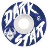Darkstar Chalk - White - 51mm - Skateboard Wheels (Set of 4)