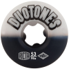 Ricta Duo Tones - White/Black - 53mm 98a - Skateboard Wheels (Set of 4)