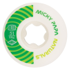 Ricta Micky Papa Pro Naturals - White/Green - 51mm 99a - Skateboard Wheels (Set of 4)