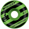 Mystery Destroyer - Green/Black - 52mm - Skateboard Wheels (Set of 4)