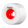 These Free Ride/Slide Offset 727 - White/Red Core - 70mm 78a - Skateboard Wheels (Set of 4)