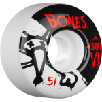 Bones STF V1 Series - White - 51mm 83b - Skateboard Wheels (Set of 4)