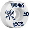 Bones 100's V1 - White - 50mm - Skateboard Wheels (Set of 4)