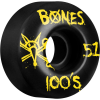 Bones 100's V4 - Black - 51mm 100a - Skateboard Wheels (Set of 4)