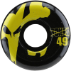 Bones 100's Icon - Black/Yellow - 49mm 100a - Skateboard Wheels (Set of 4)