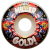 Gold Miller Kapow - White - 52mm - Skateboard Wheels (Set of 4)