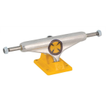 Independent 129 Stage 11 Strike Cross Standard - Polished/Yellow - Skateboard Trucks (Set of 2)