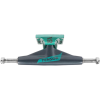Tensor Aluminum Low Tens Flick - Gunmetal/Mint - 5.0 - Skateboard Trucks (Set of 2)