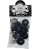 Thunder Rebuild Kit - Black - 100du - Skateboard Bushing Rebuild Kit (4 PC)
