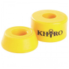 Khiro Barrel Bushing Without Washers - Yellow - 92a - Skateboard Bushings (2 PC)