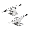 Mini Logo Rough Polished - Silver/Silver - 7.63 - Skateboard Trucks (Set of 2)