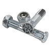Independent Genuine Parts Low Kingpins & Nuts Grade 8 - Silver - Skateboard Mounting Hardware