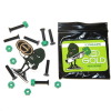 Gold Bolts W/Nuts - Black/Green- 1in Phillips - Skateboard Mounting Hardware