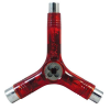 Pig Tri-Socket Threader Tool - Transparent Red- Skateboard Tool