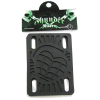 Thunder - Black - 1/8in - Skateboard Riser (2 PC)