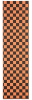 FKD Grip Checkers - Black/Orange - Skateboard Griptape (1 Sheet)
