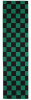 FKD Grip Checkers - Black/Green - Skateboard Griptape (1 Sheet)