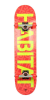 Habitat Stencil Small - Red/Yellow - 7.625in x 31.6in - Complete Skateboard