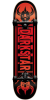 Darkstar Faded Premium Youth - Red/Black - 7.375in - Complete Skateboard