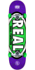 Real Oval Tone - Purple - 7.5in x in - Complete Skateboard
