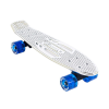 Karnage Retro Chrome - Silver/Blue - Complete Skateboard