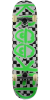 Krooked Checkers - Black/White/Green - 8.0in x 31.25in - Complete Skateboard