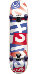Cliche Chopped - Red/White/Blue- 7.9in - Complete Skateboard