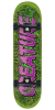 Creature Team Comics Mid Sk8 - Green/Purple - 7.25in x 29.9in - Complete Skateboard