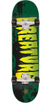 Creature Stained Mid Sk8 - Green - 7.25in x 29.9in - Complete Skateboard