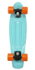 Stereo Vinyl Cruiser - Tiffany/Black/Orange- 6in x 22.5in - Complete Skateboard