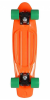 Stereo Vinyl Cruiser - Orange/Black/Green - 6in x 22.5in - Complete Skateboard