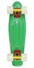 Stereo Vinyl Cruiser - Rasta/Glow In The Dark - 6in x 22.5in - Complete Skateboard
