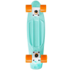 Stereo Vinyl Cruiser - Seafoam/White/Orange - 6in x 22.5in - Complete Skateboard