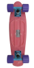 Stereo Vinyl Cruiser - Pink/Sky Blue/Purple - 6in x 22.5in - Complete Skateboard