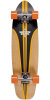 Dusters Glassy Pinstripe Fiberglass - Black/Orange - 29in - Complete Skateboard