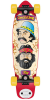 Flip Cheech and Chong Shred Sled Cruzer - Red/Yellow/Tan - 9.3in x 36in - Complete Skateboard