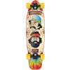 Flip Cheech and Chong Shred Sled Cruzer - TieDye - 36.0in x 9.3in - Complete Skateboard