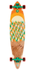 Nor Cal Treeline Pintail Cruzer - Natural/Orange - 9.9in x 43.5in - Complete Skateboard