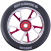 Grit Bio Core - 88a 125mm - Red/Silver/Black - Scooter Wheels (Set of 2)